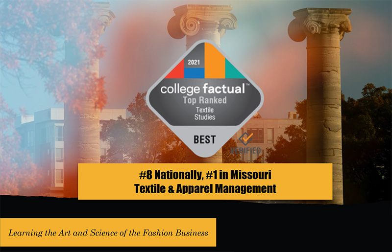 2021 College Factual Top Ranked Textile Studies badge